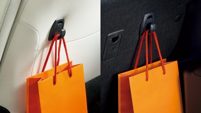 買い物フック(運転席シートバック1・リヤ席シートバック1)
