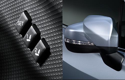 運転席シートポジションメモリー機能 ドアミラーメモリー&オート格納機能